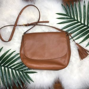 Ralph Lauren brown leather crossbody.